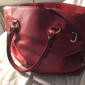 Michael Kors red large purse
